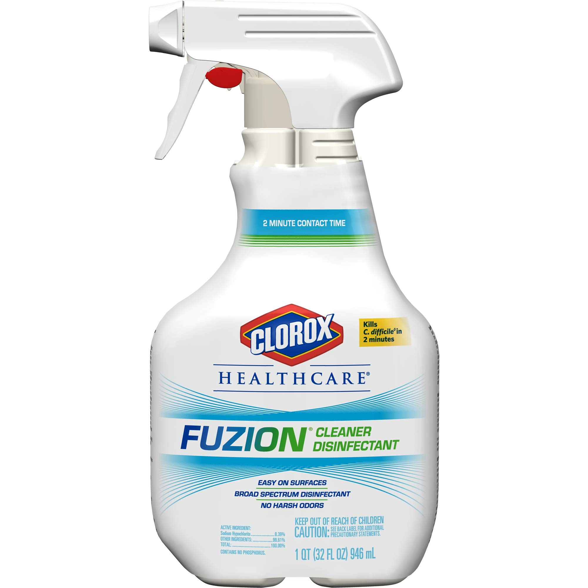 Clorox Healthcare Fuzion Cleaner Disinfectant, Spray, 32 Ounces (For Healthcare Use)