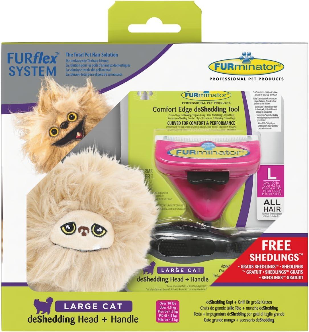 Furminator furflex, Cepillo Cuidado de Pelo para Grandes Gatos ...