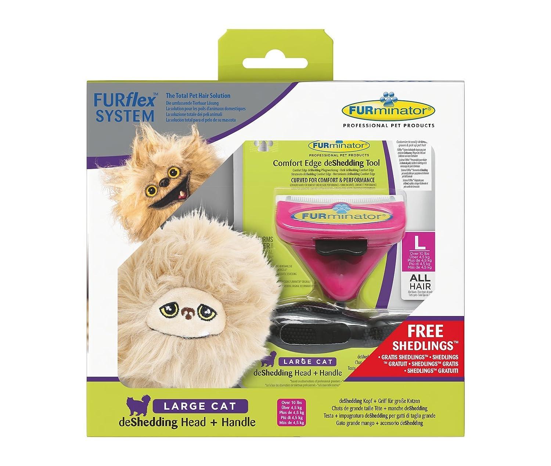 Furminator furflex, Cepillo Cuidado de Pelo para Grandes Gatos, deshedding de Herramienta para Eliminar el bajo Lana, tamaño L: Amazon.es: Productos para ...