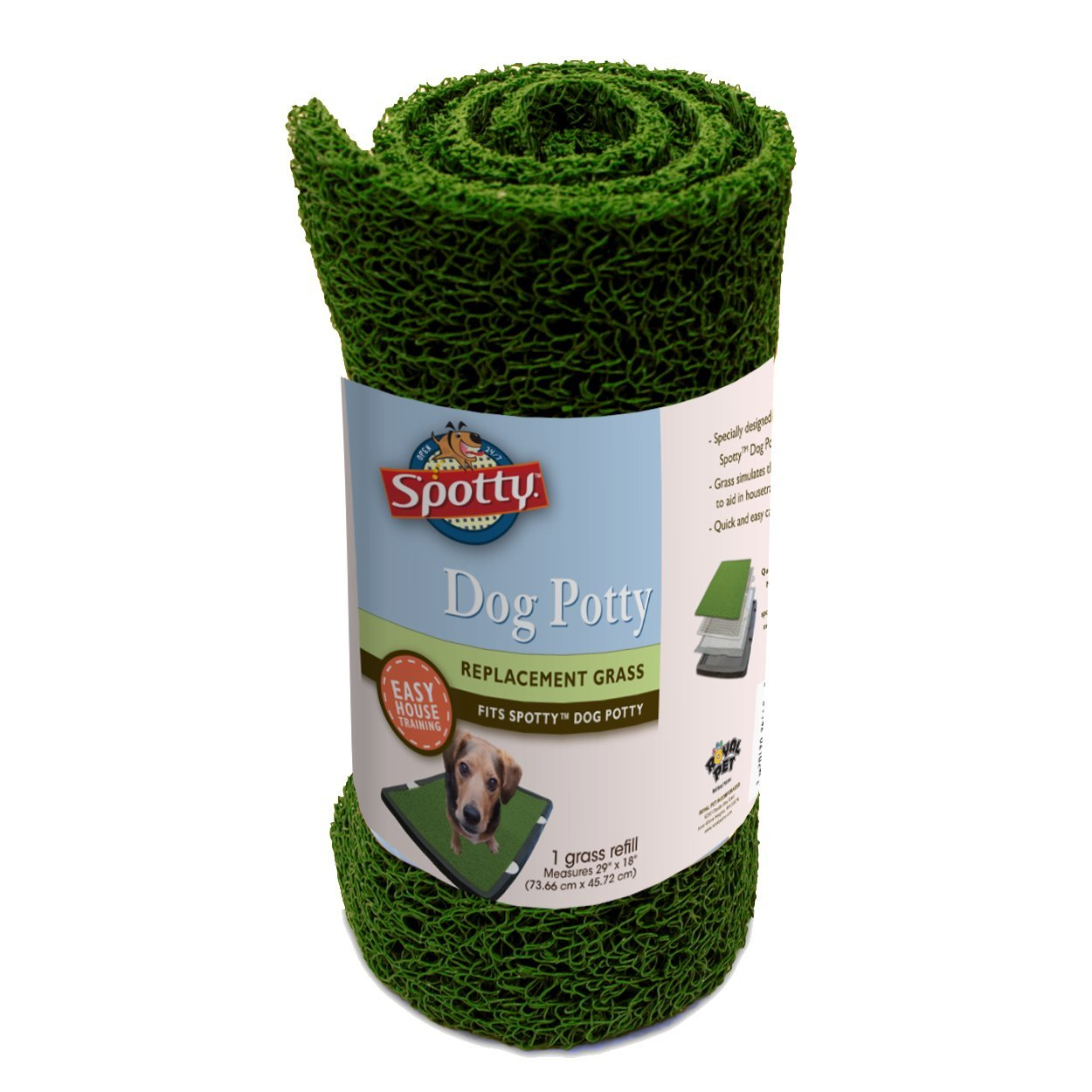 Spotty Indoor Dog Potty Replacement Grass Royal Pet Incorporated 2102
