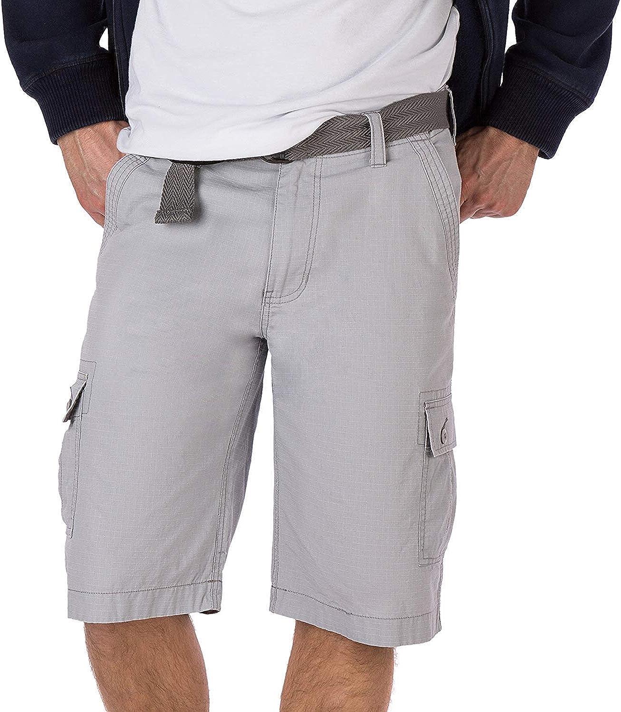 Wearfirst Sportswear Men's Ripstop Belted Legacy Cargo Shorts