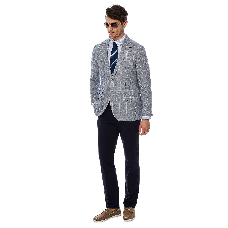 d7f8712bda7c Debenhams Hammond & Co. by Patrick Grant Men Grey Checked Linen Blend Blazer  42R: Hammond & Co. by Patrick Grant: Amazon.co.uk: Clothing