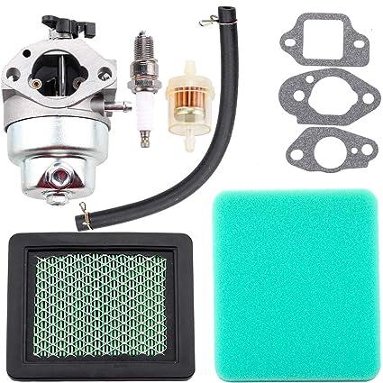 Dxent GCV160 Carburetor for Honda HRT216 HRR216 GCV160A HRS216 Carb Honda  GCV160 Carburetor with Air Filter Fuel Line Filter Spark Plug Parts Kit