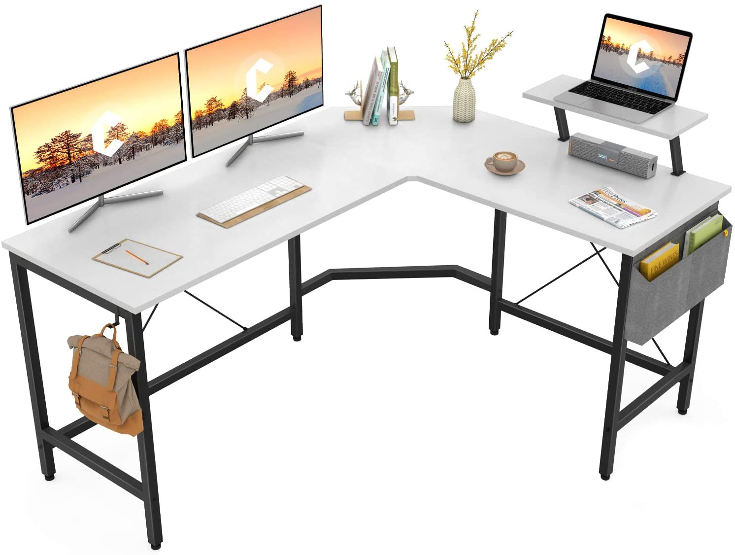 L-Shaped Corner Desk Computer Gaming Desk PC Table Writting Table Home Office