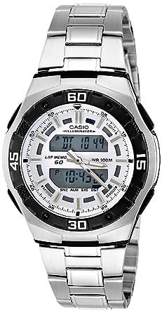 79ac26b4a8f Relógio Masculino Anadigi Casio AQ-164WD-7AVDF - Prata  Amazon.com ...