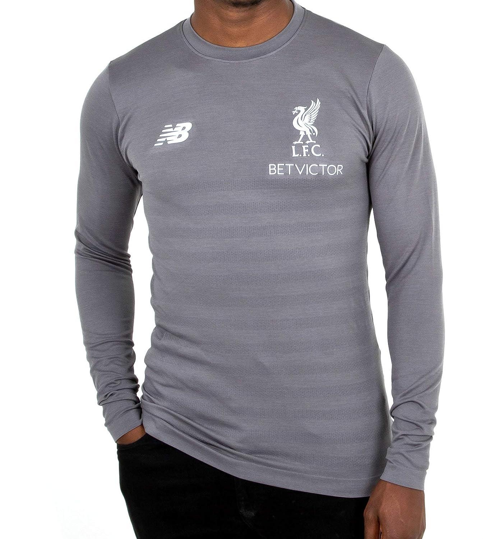 0b6fef5856c78 Liverpool FC 18/19 Elite L/S Seamless Training Shirt - Grey - Size L:  Amazon.co.uk: Clothing