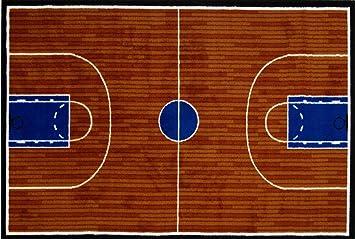 Fun Time - Basketball Court Kids Rugs - 39 x 58 in.