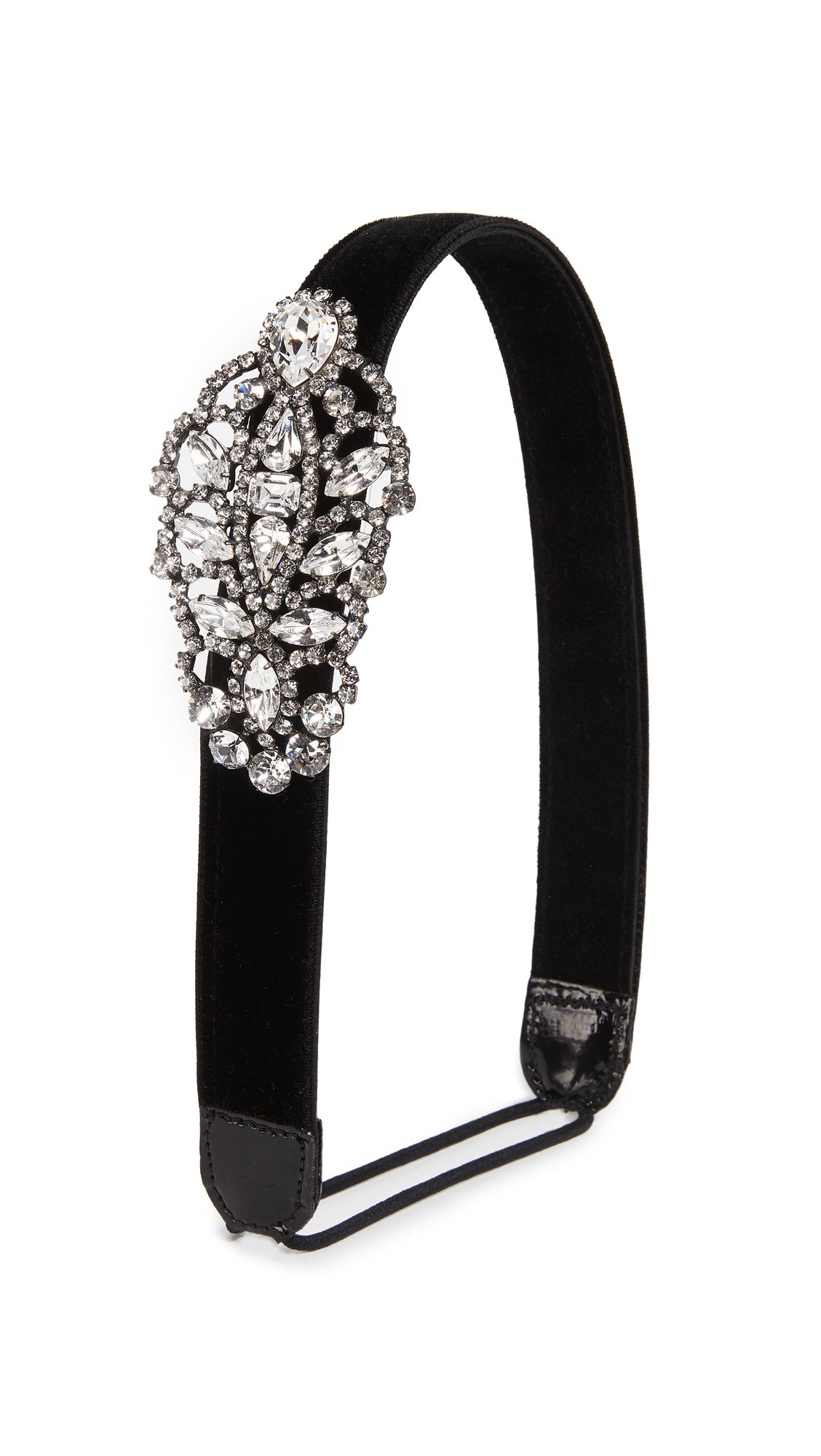 Jennifer Behr Women's Crystal Encrusted Headband, Black/Clear, One Size