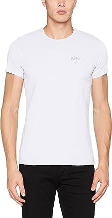 Camiseta básica blanca de cuello redondo Pepe Jeans
