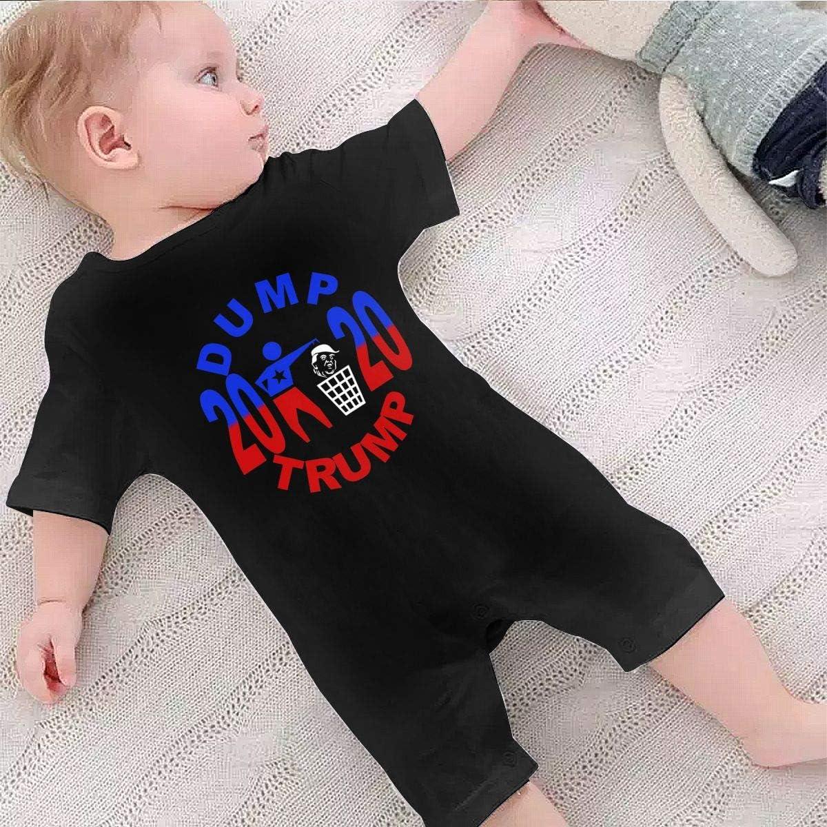 QMJJJP Dump Trump 2020 Baby Short Sleeve Jumpsuit Unisex Climbing Suit