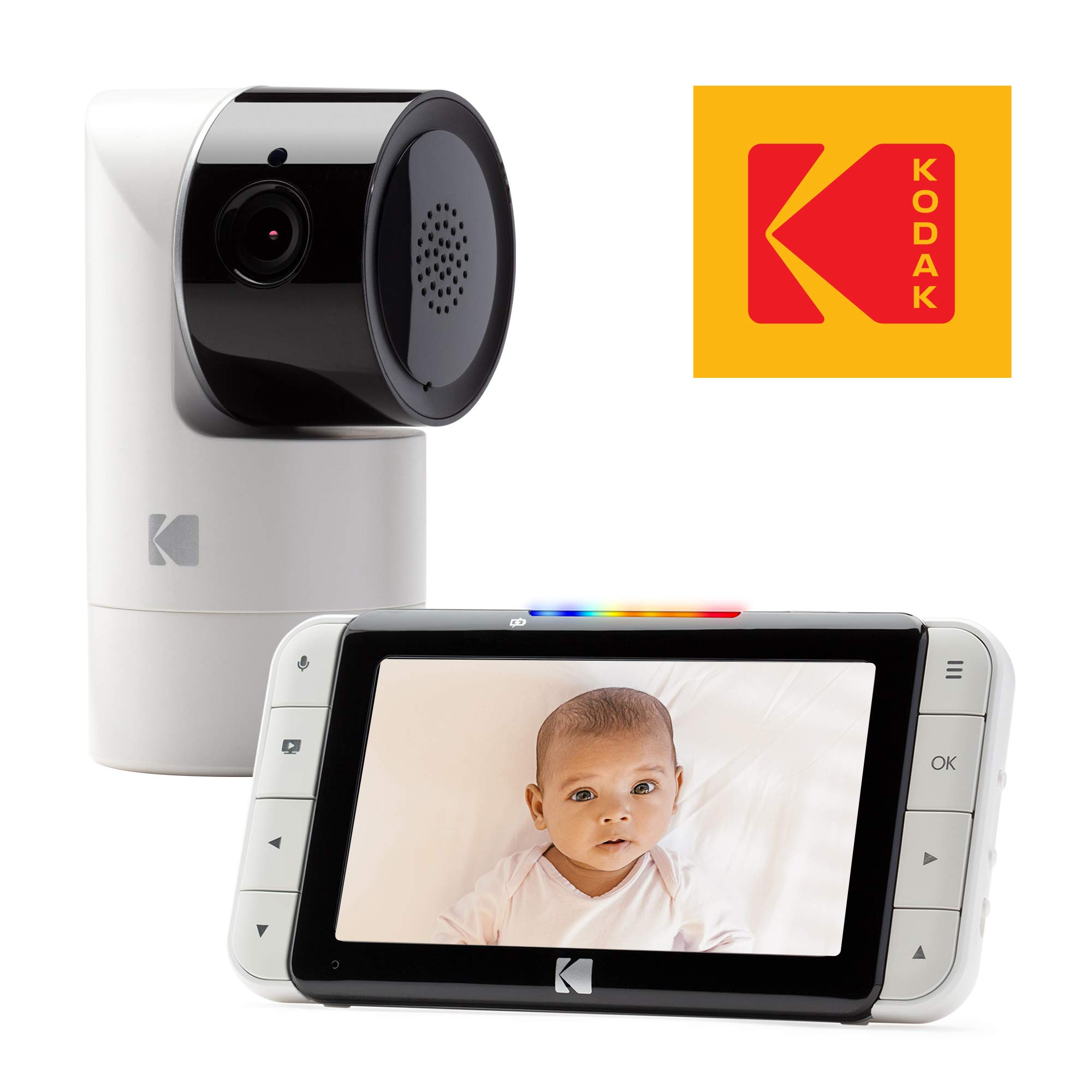 KODAK Cherish C525 Video Baby Monitor with Mobile App - 5'' HD Screen - Hi-res Baby Camera with Remote Tilt, Pan and Zoom, Two-Way Audio, Night-Vision, Long Range - WiFi Indoor Camera
