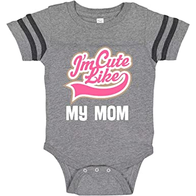 inktastic Cute Like My Mommy Long Sleeve Creeper