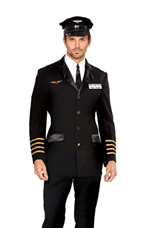 Mile High Pilot Hugh Jorgan Adult Costume - X-Large  sc 1 st  Amazon.com & Amazon.com: Dreamgirl Menu0027s Mile High Pilot Hugh Jordan Costume ...