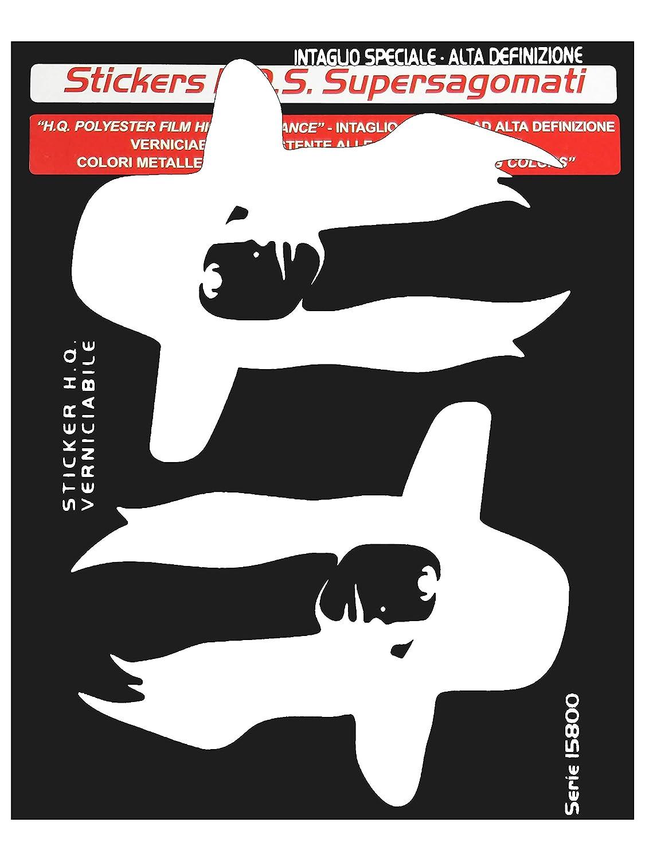 Color Blanco Quattroerre Villa D 15865/Pegatinas Recortadas en Forma supersagomati para Coche Penelope 10/x 12/cm Derecho E Izquierdo