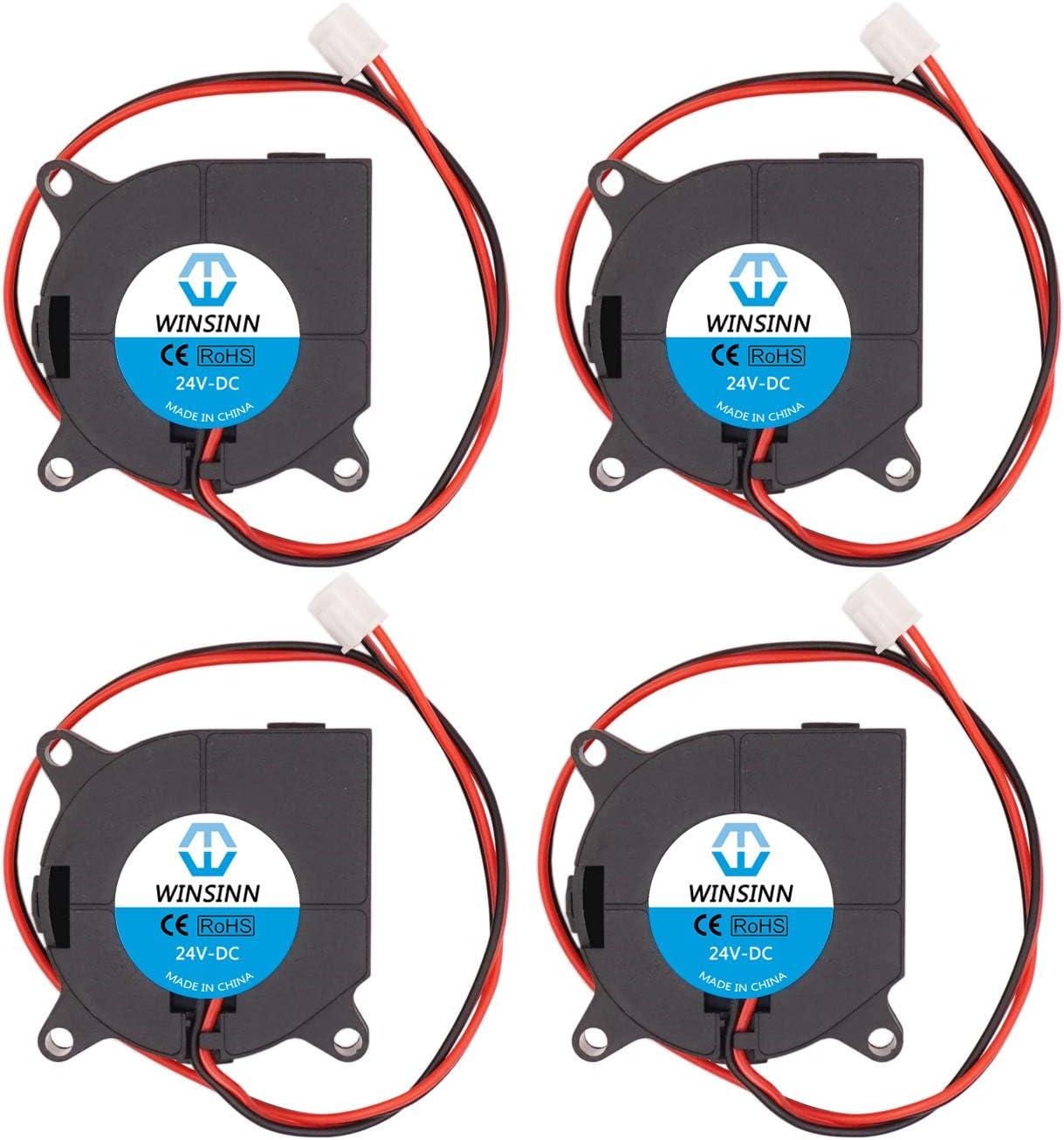 WINSINN Ventilador de 40 mm 24 V 4020 40 x 20 mm Turbine Turbo refrigeración sin escobillas para extrusora de impresora 3D Hotend – Alta velocidad (Paquete de 4 unidades)
