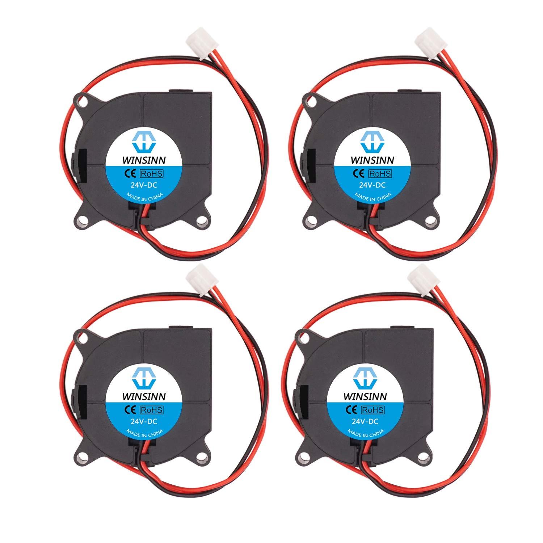 WINSINN 40mm Blower Fan 24V 4020 40x20mm Turbine Turbo Brushless Cooling for 3D Printer Extruder Hotend - High Speed (Pack of 4Pcs)