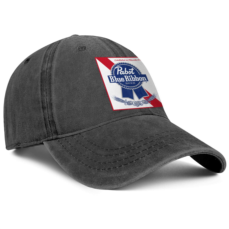 Cap Printed Cowboy Hats Athletic Caps Denim Mens Womens Pabst-Blue-Ribbon-Logo
