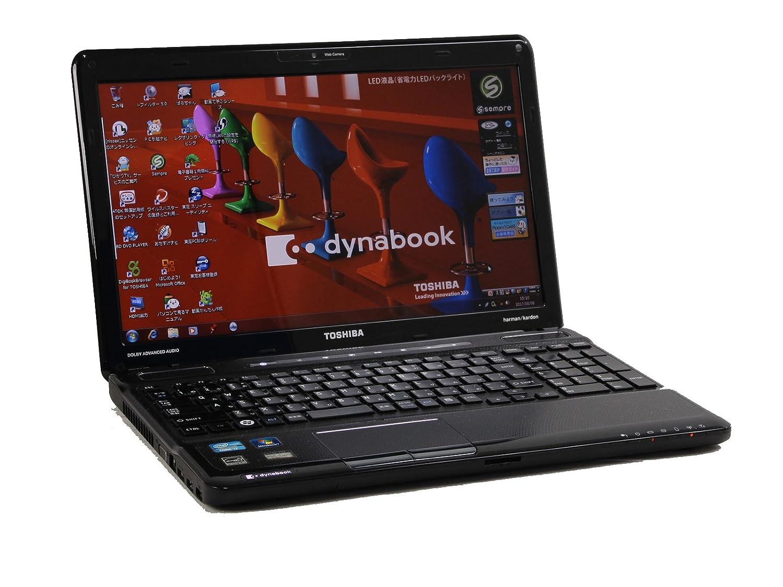 [ 中古ノートパソコン / Microsoft Office Personal 2010 ] 東芝 dynabook T551/58BB Windows7 15.6インチ Core i7 2630QM 2.0GHz メモリ8GB HDD750GB [ BD-REドライブ / 無線LAN内蔵 ]   B074MY8K4D
