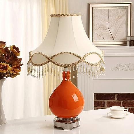 BMKY lámpara de mesa Naranja de cerámica lámpara de mesa de ...
