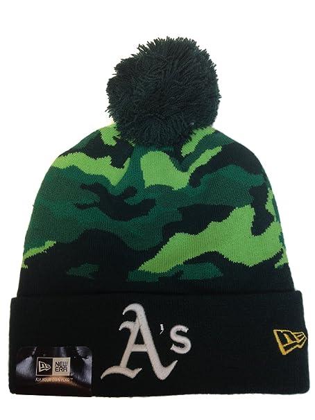 Amazon.com  New Era Oakland A s Camo Top Knit Hat  Clothing 8b188165931