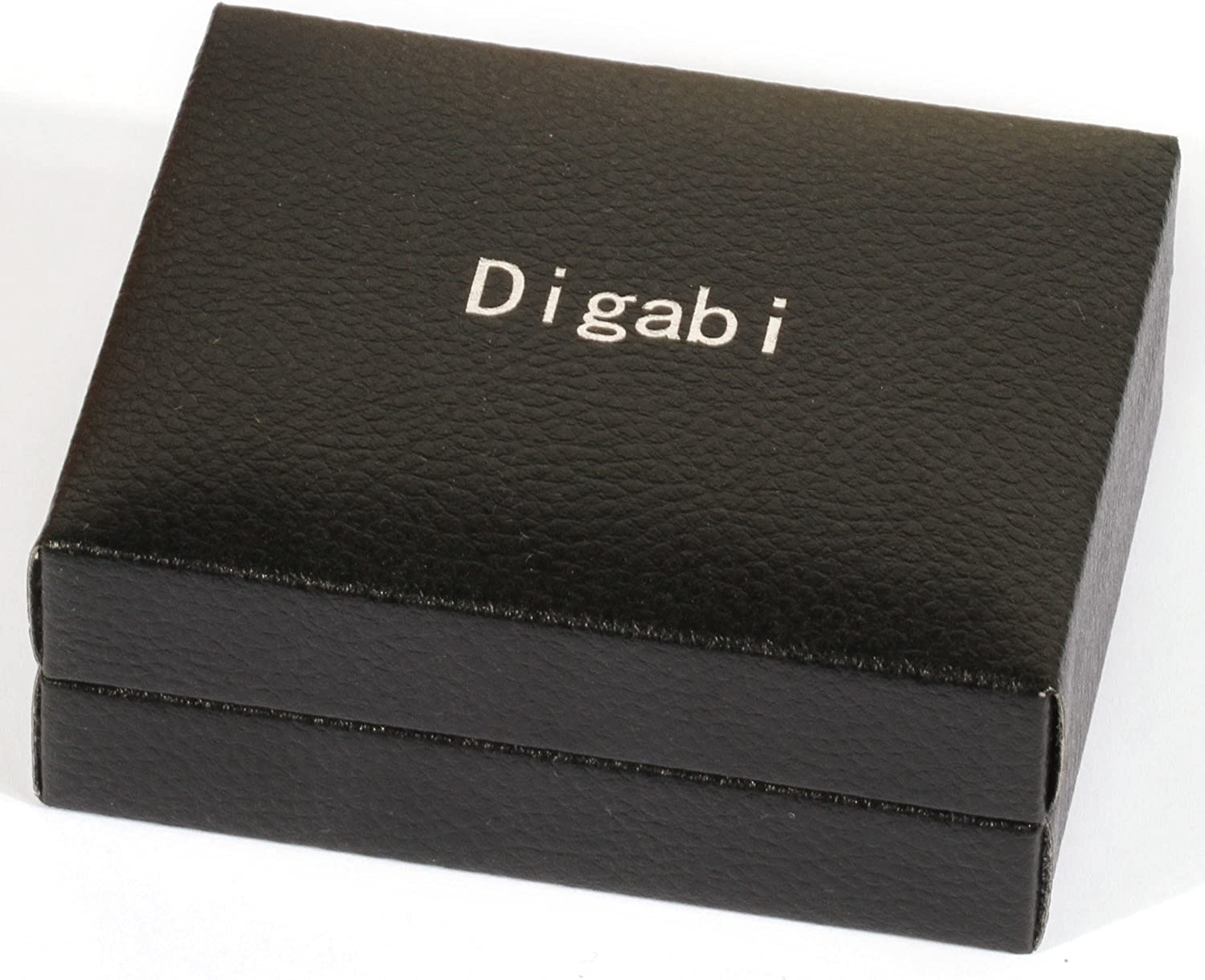 Digabi Plated Platinum Rectangular Tie Clip and Cufflinks Set Color Silver with Nice Box