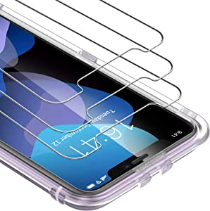 UNBREAKcable Screen Protector for iPhone 11/ iPhone XR Screen Protector 3-Pack 6.1 Inch - 9H Hardness HD Tempered Glass Screen Protector for iPhone 11/ iPhone XR [Free Installation Frame]