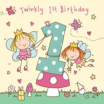 Twizler 1st Birthday Card For Girl With Fairy Princess