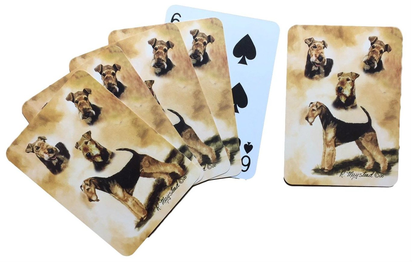 Airedale Terrier Dog Playing Cards by Best Friends Best Friends by Ruth Maystead Inc SG/_B0077SQ61K/_US