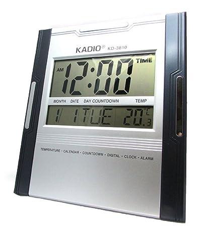 THE GURU SHOP KD-3810 Big Digital Alarm Calendar Table Desk Wall Clock  Timer  Amazon.in  Home   Kitchen f75f3a082ba6