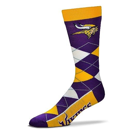 55a2f441 Amazon.com : NFL Men's Minnesota Vikings Argyle Socks with Vikings ...