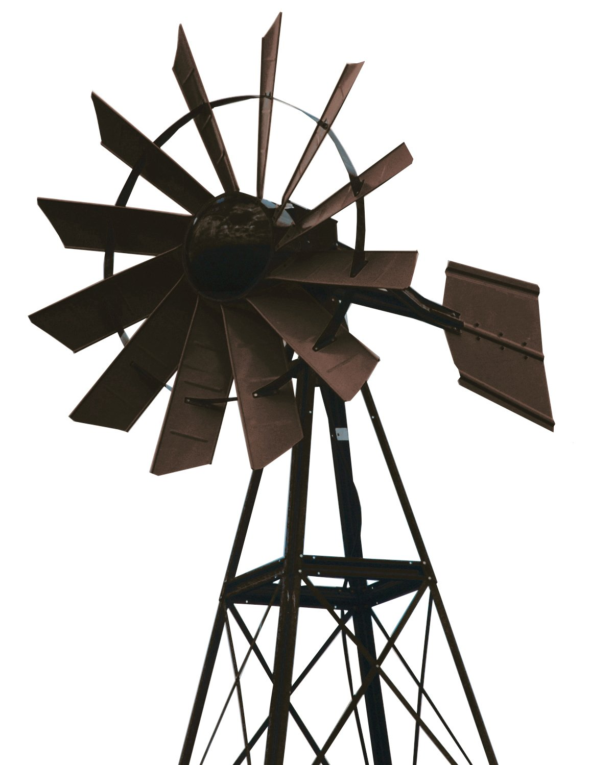 Outdoor Water Solutions PCW0234 20-Feet Bronze Green Powder Coated Windmill