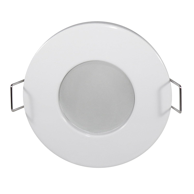 LED Lampade, lampada led da bagnato Outside–rotondo–IP65, Bianco–5lampadina a led da w, 450Lumen, Bianco caldo–Dimmerabile–GU10–Set da p