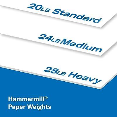White Hammermill Copy Plus 20lb Paper 8.5 x 11 500 Total 8.5x11 1 Ream