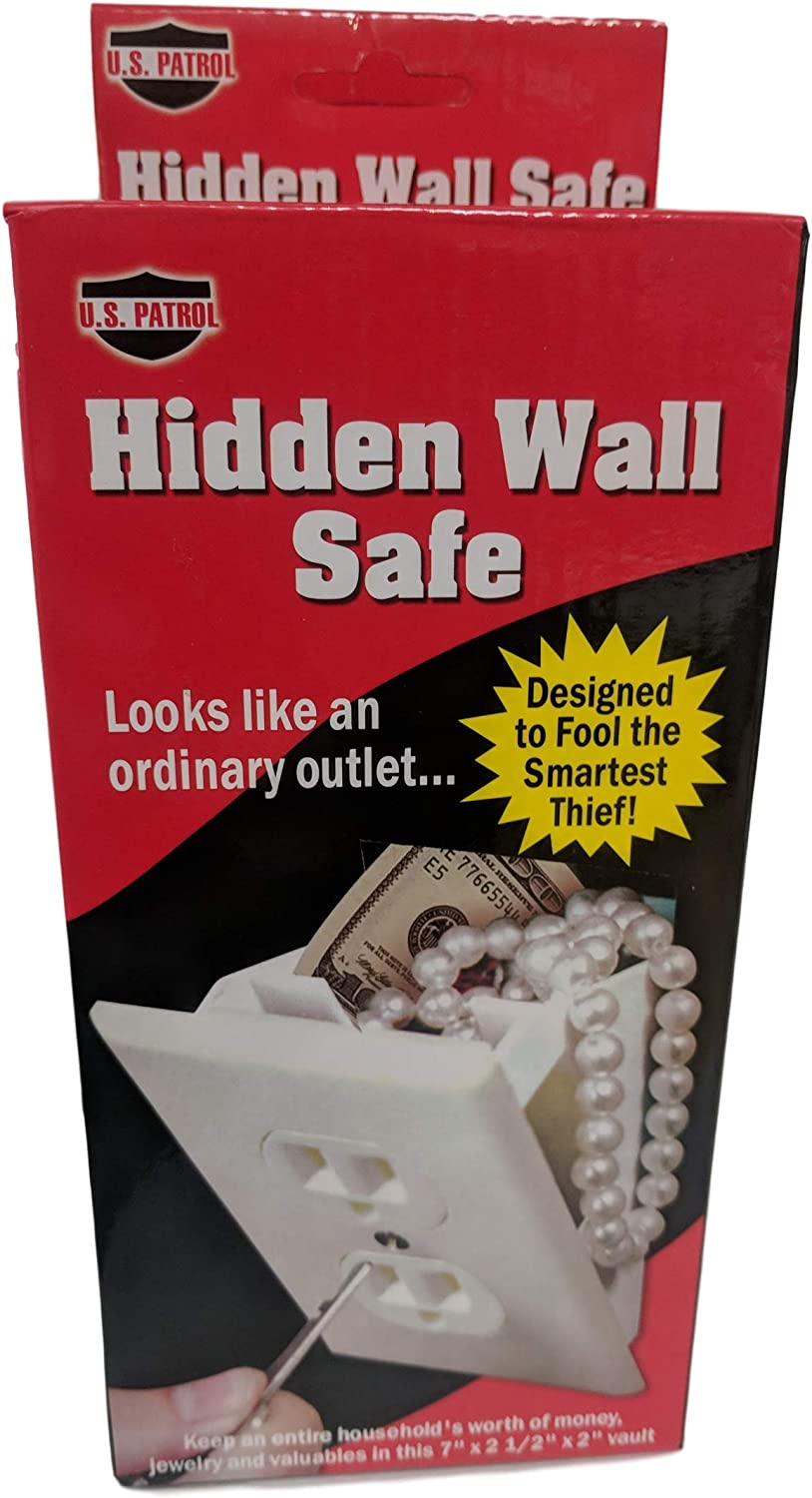 US Patrol Hidden Wall Safe Secret Stash Electrical Plug