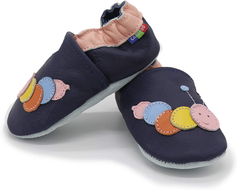 Carozoo Weiche Sohle Leder Babyschuhe Krabbelschuhe Lauflernschuhe Krippe Enfants Hausschuhe Neugeborene