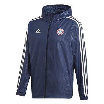 adidas FC Bayern München Windbreaker Jacke Blau: