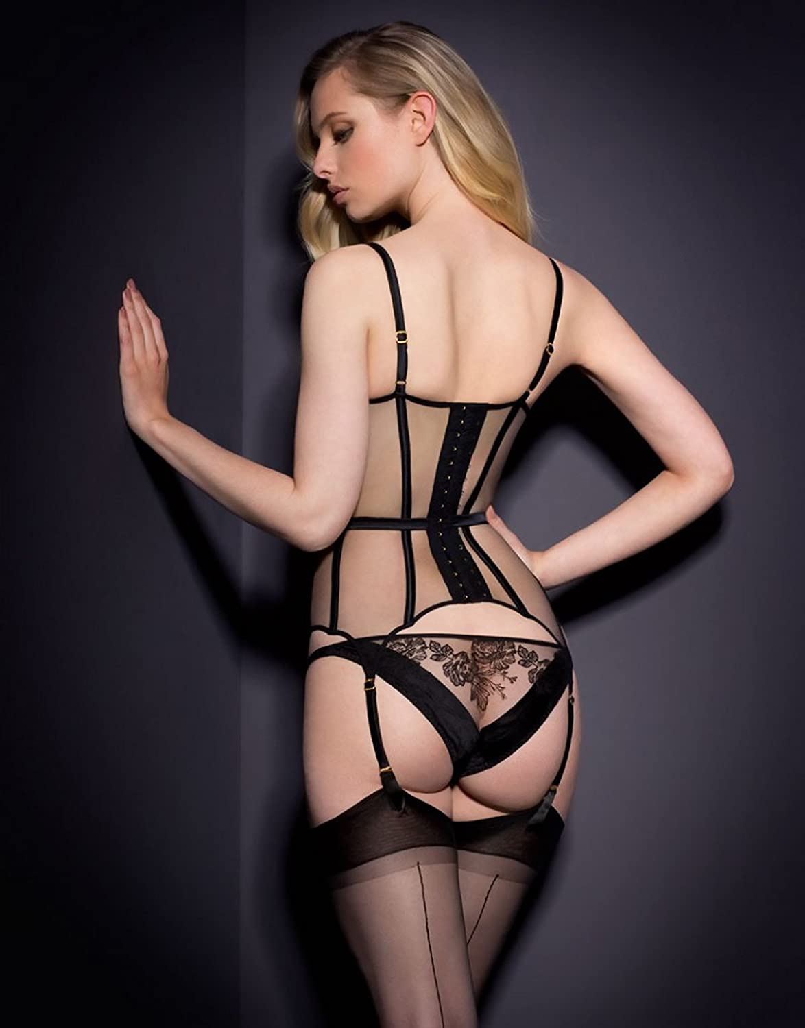 51d2671a35e3 Dioni Tabbers-Agent Provocateur Black Sheer Lingerie with Black Stockings  From Back Mid Photo 8 inch x 10 inch PHOTOGRAPH at Amazon's Entertainment  ...