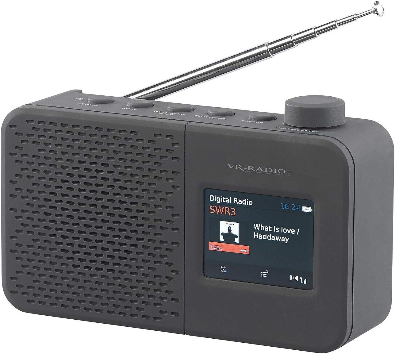 VR-Radio Radio para Maletero Digital portátil con batería Dab+/FM, RDS,  Temporizador, Despertador, Pantalla a Color (Radio Dab FM).