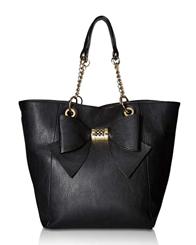 9393724113a2 Amazon.com  Betsey Johnson Women s Bag in Bag Bow Tote Black One ...