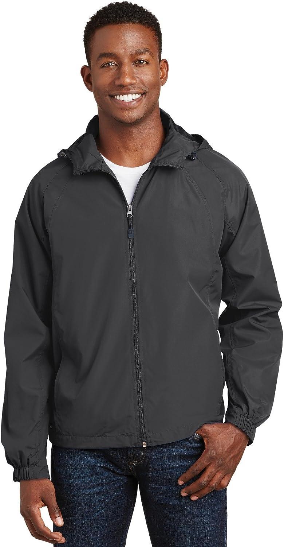 SPORT-TEK Men's Hooded Raglan Jacket
