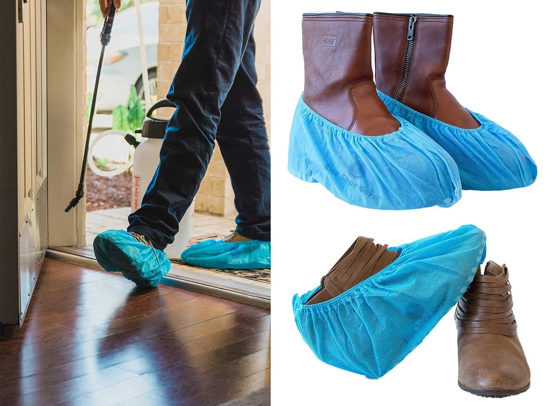 Blue Shoe Guys Botas Desechables De Arranque Y Botas Premium | Heavy Duty, Antideslizante, Reciclable, Interior / Exterior | Paquete De 100 (De Gran Tamaño, ...