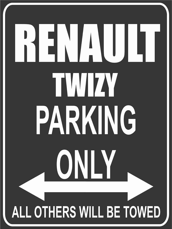 Schwarz INDIGOS UG Park-renault-twizy Parkplatzschild