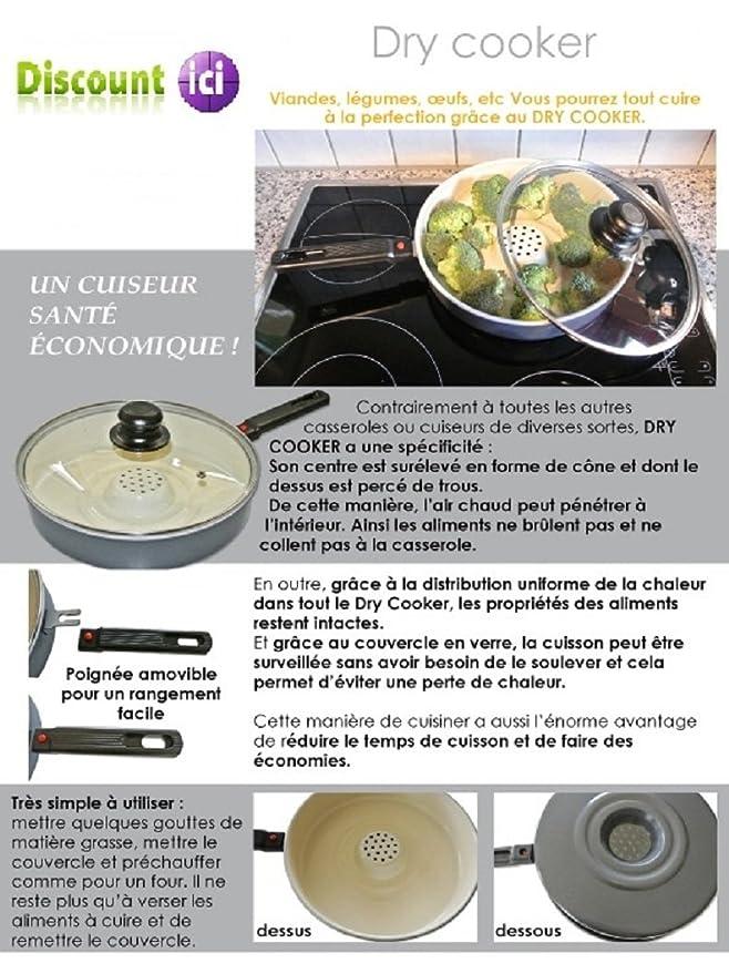 gendisc Cacerola con Mango y Tapa de Cocina de Vapor sartén de cerámica para Todos los Fuegos: Amazon.es: Hogar