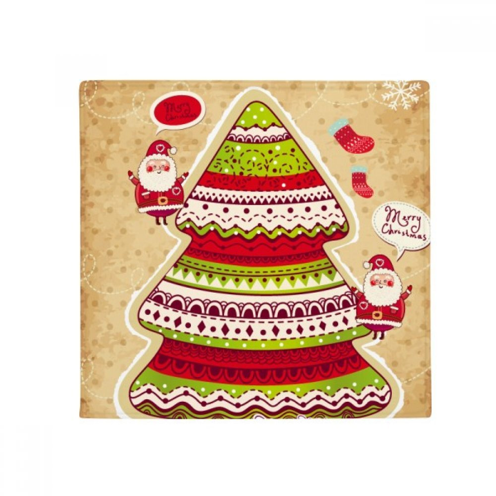 DIYthinker Merry Christmas Tree Gift Illustration Anti-Slip Floor Pet Mat Square Home Kitchen Door 80Cm Gift