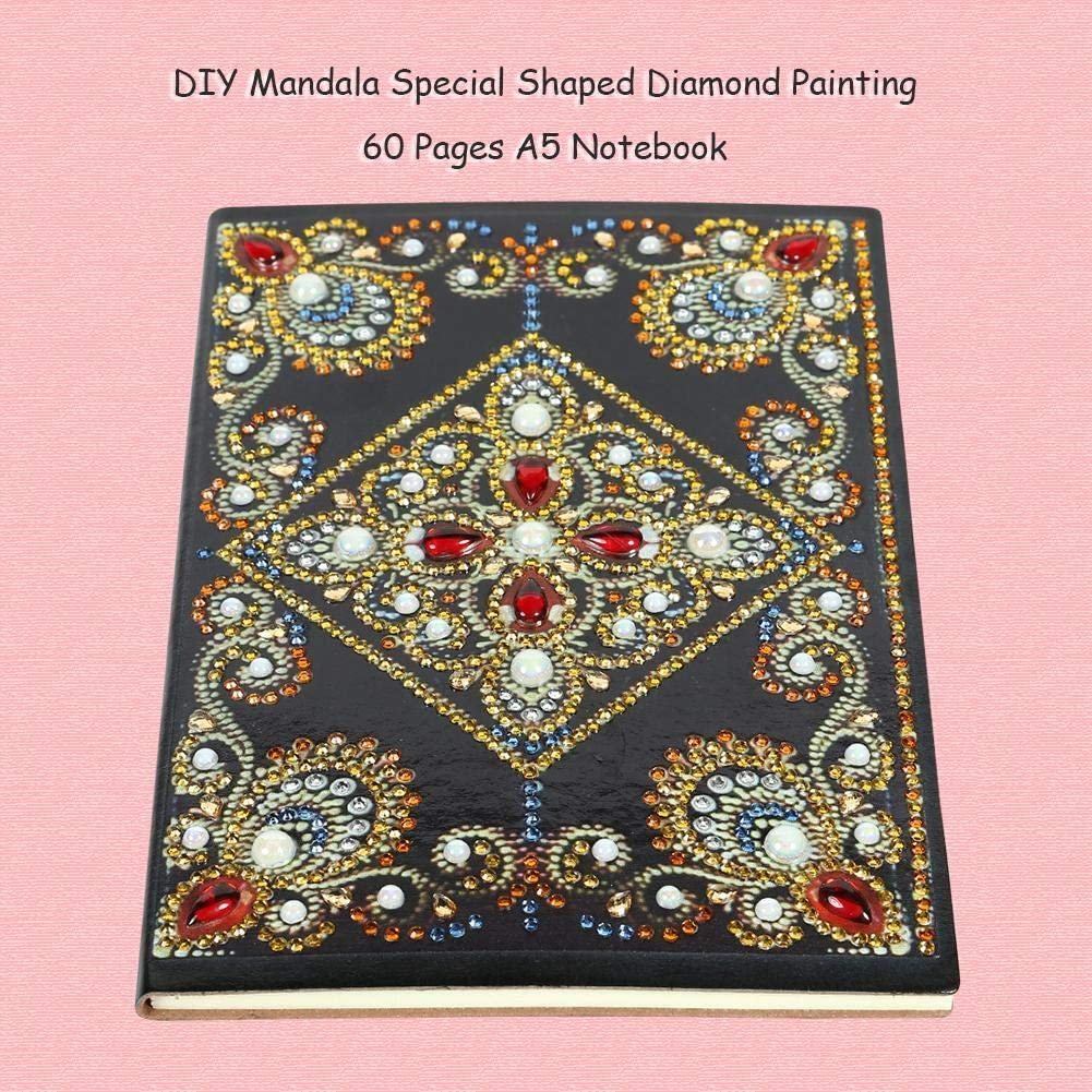 DIY Diamond Painting Cover Notebook Diary Book Journal Writing Note Planner Flower Special Shaped Diamond Painting 100 Pages Notebook Sketchbook