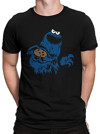 vanVerden Camiseta Hombre Galleta Diabólica Galleta Monstruo ...