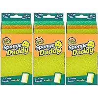 Scrub daddy modelo Sponge Daddy Fibra+Esponja 3 Paquetes de 3 Esponjas c/u