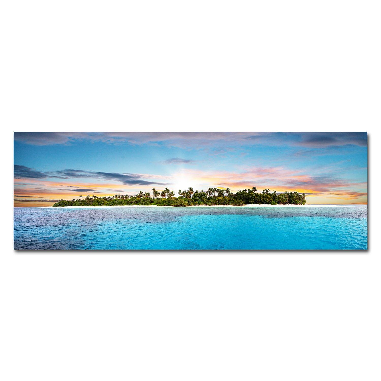 Royllent アートパネル 大判サイズ40*120cm キャンバス絵画「海島」(額付きの完成品) B06XYL4YVX 海島 海島