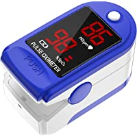 Doljucx Fingertip Pulse Oximeter Pro Blood Oxygen Saturation Monitor for Home with Pulse Rate and Accurate Fast Spo2…