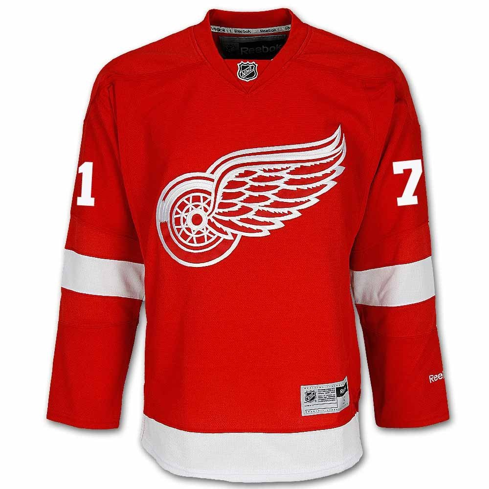 761e1f4c Amazon.com : Reebok Dylan Larkin Detroit Red Wings Home Red Premier Jersey  Sewn Tackle Twill Name and Number : Clothing